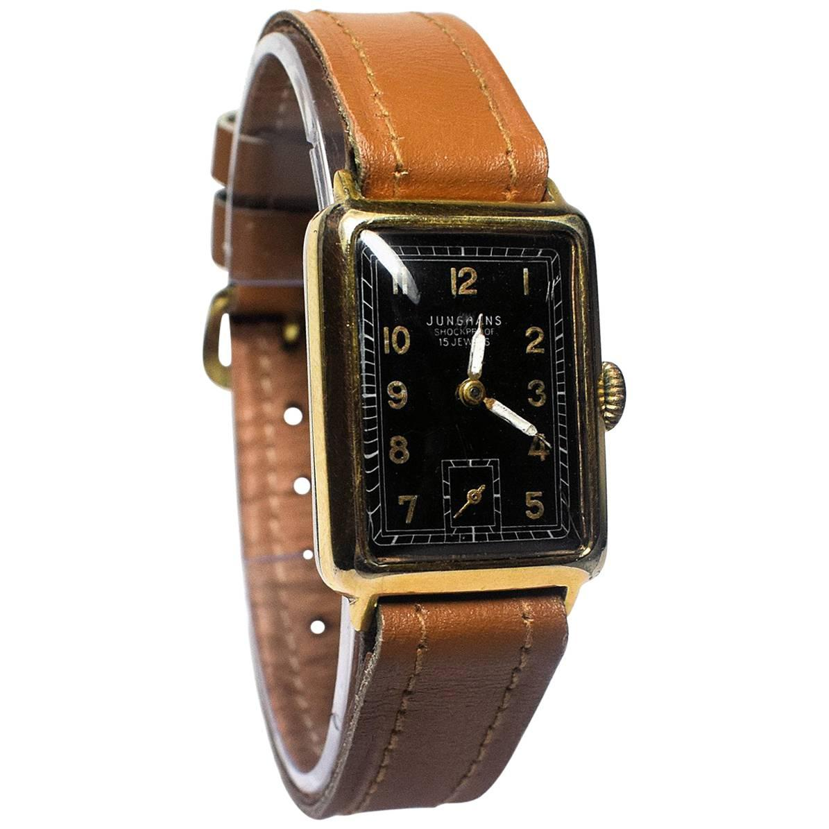 Art Deco 1930s Mans Watch by Junghans