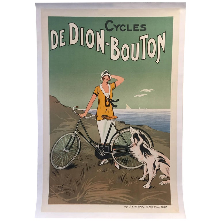Original Vintage French Cycle Bike Poster