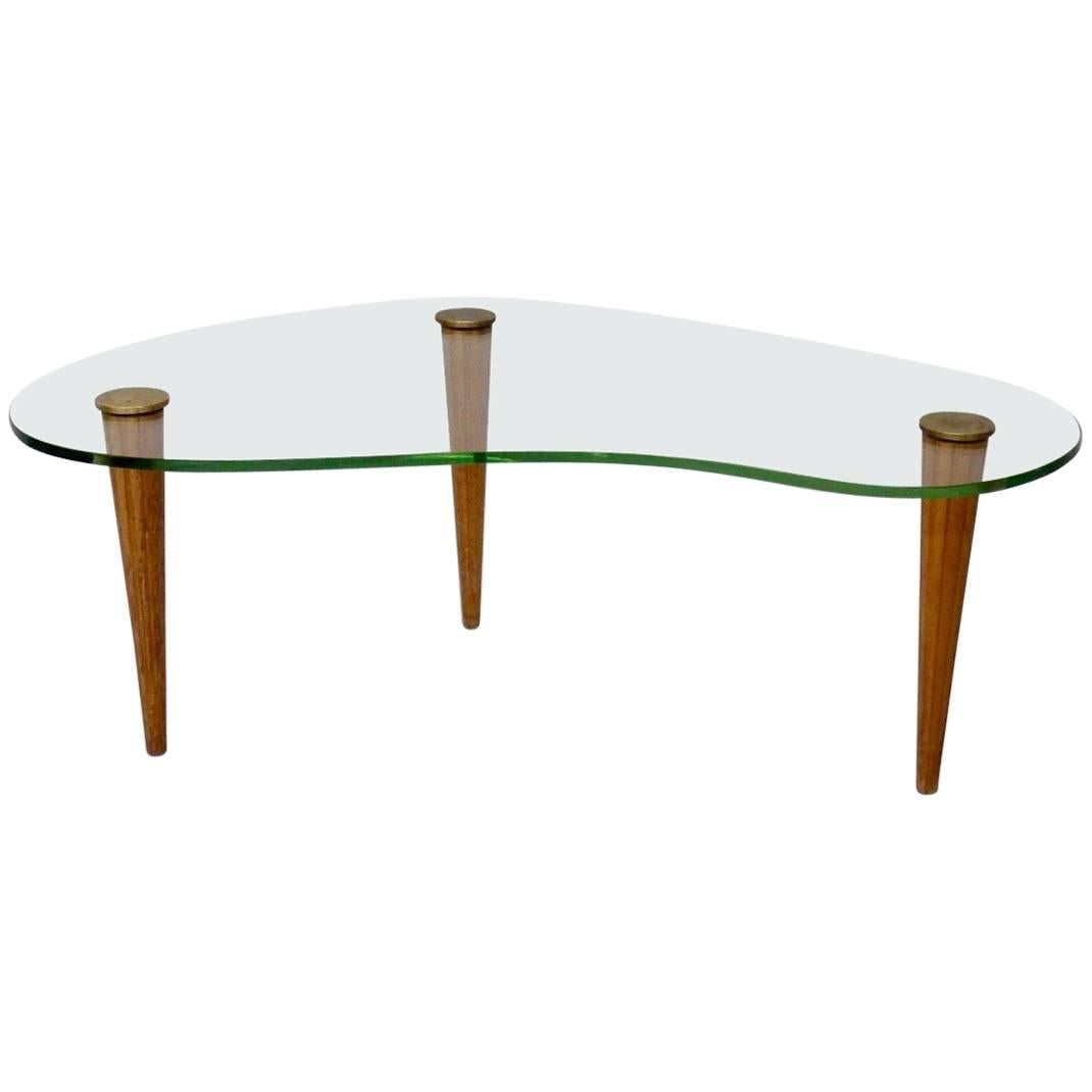 Gilbert Rohde Style Art Deco Floating Glass Cloud Coffee Table