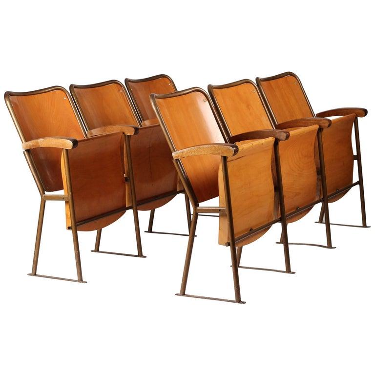 Mid-Century Modern Cinema Seats, Italy, circa 1950s