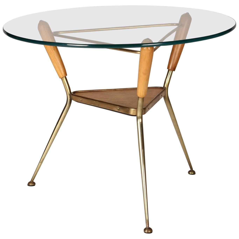 Mid-Century Modern Italian Brass Side Table, 1960s
