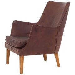 AV 53 Easy Chair in Leather by Arne Vodder