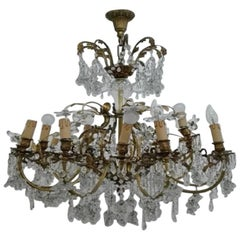 Bronze Chandelier and Crystals