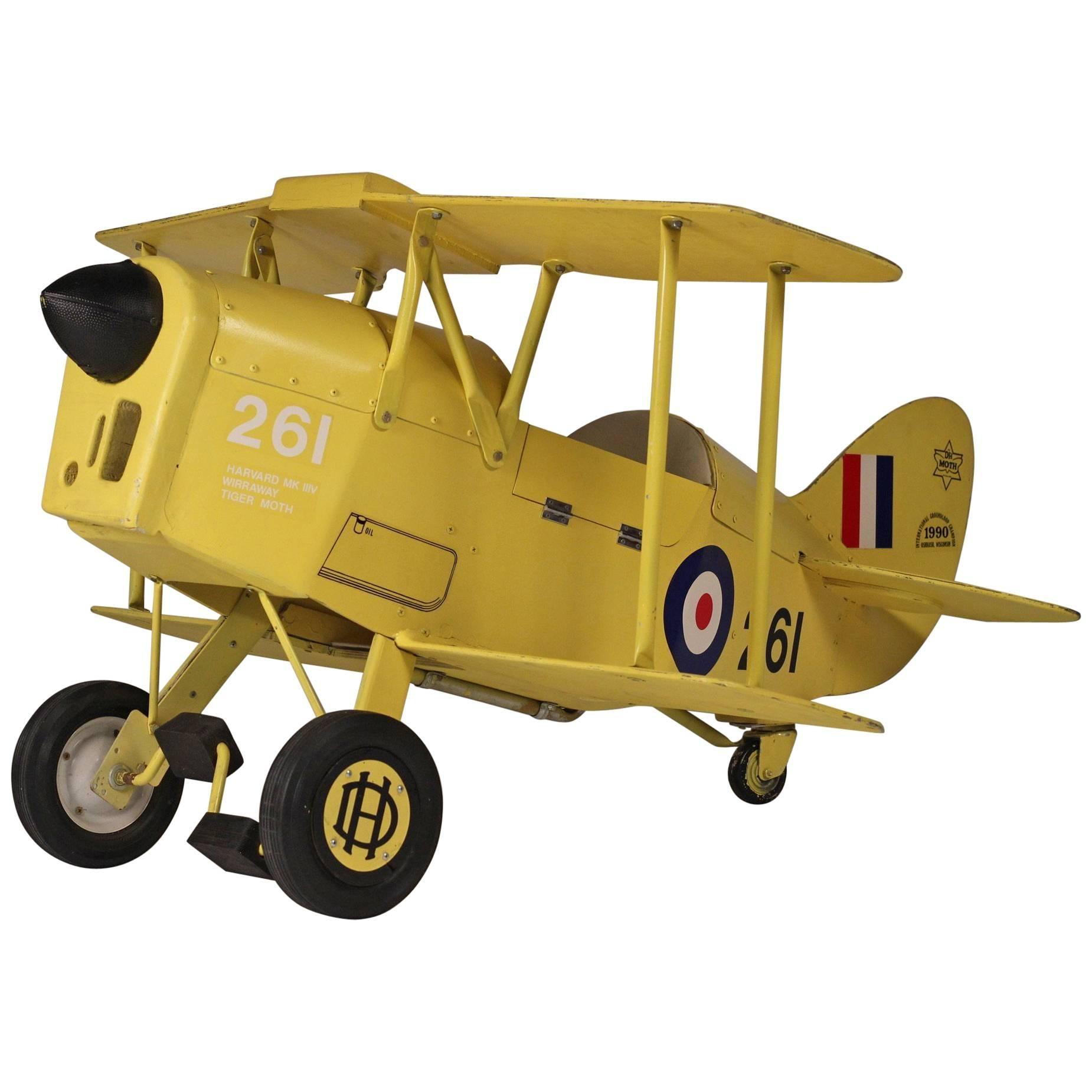 Vintage Pedal Bi Plane Car For Sale at 1stdibs