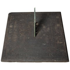 Georgian Slate and Bronze Sundial Inscribed 'GEORGE ANDERSON' Dated 1818