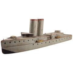 Folk Art Battle Ship made by Italian Soldier 1945