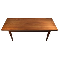 Danish Midcentury Solid Teak Coffee Table by Finn Juhl, France & Daverkosen