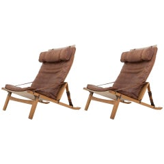 Rare Set of Two PB Ten Lounge Chairs by Fabricius / Kastholm