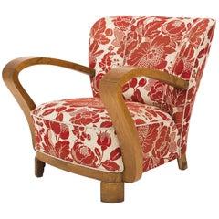"""""""Art Deco"""" Easy Chair in Oak"""