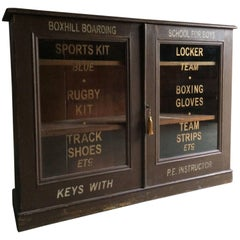Haberdashery Display Cabinet Cupboard Sports Locker, Antique, 19th Century