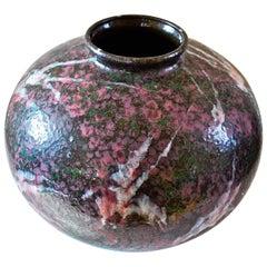 Ruscheff 858 West German Pottery Vase, Fat Lava Ceramics