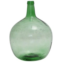 Emerald Green Art Deco Era Handblown Wine Bottle, 1920s, Austria