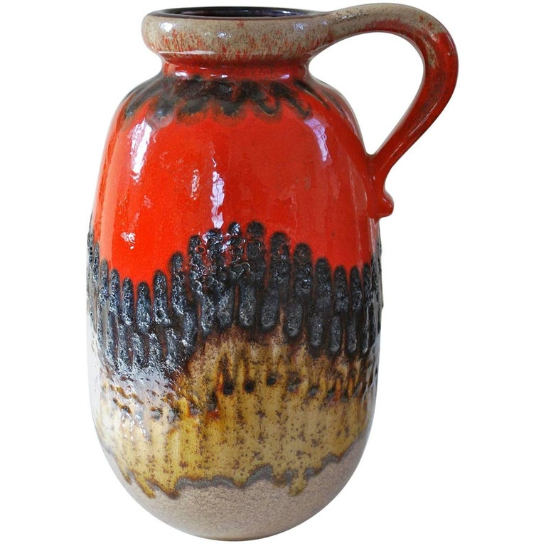 Scheurich West German Pottery Vase Fat Lava Ceramics For Sale At