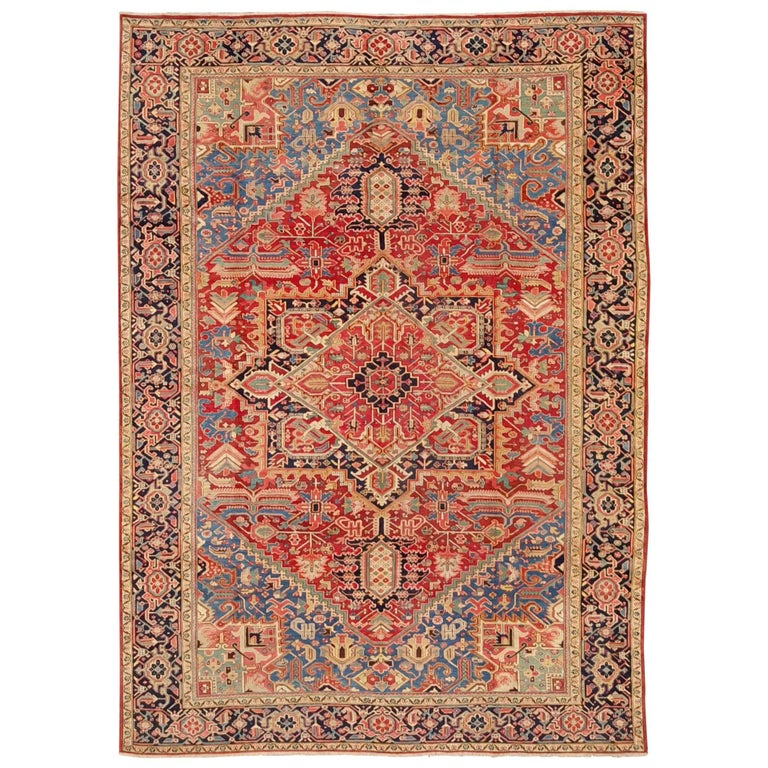Fine Semi Antique Heriz Persian Rug