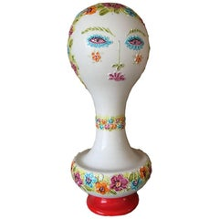 Art Pottery Raymor Eames Tall Bust Wig Form Hat Stand