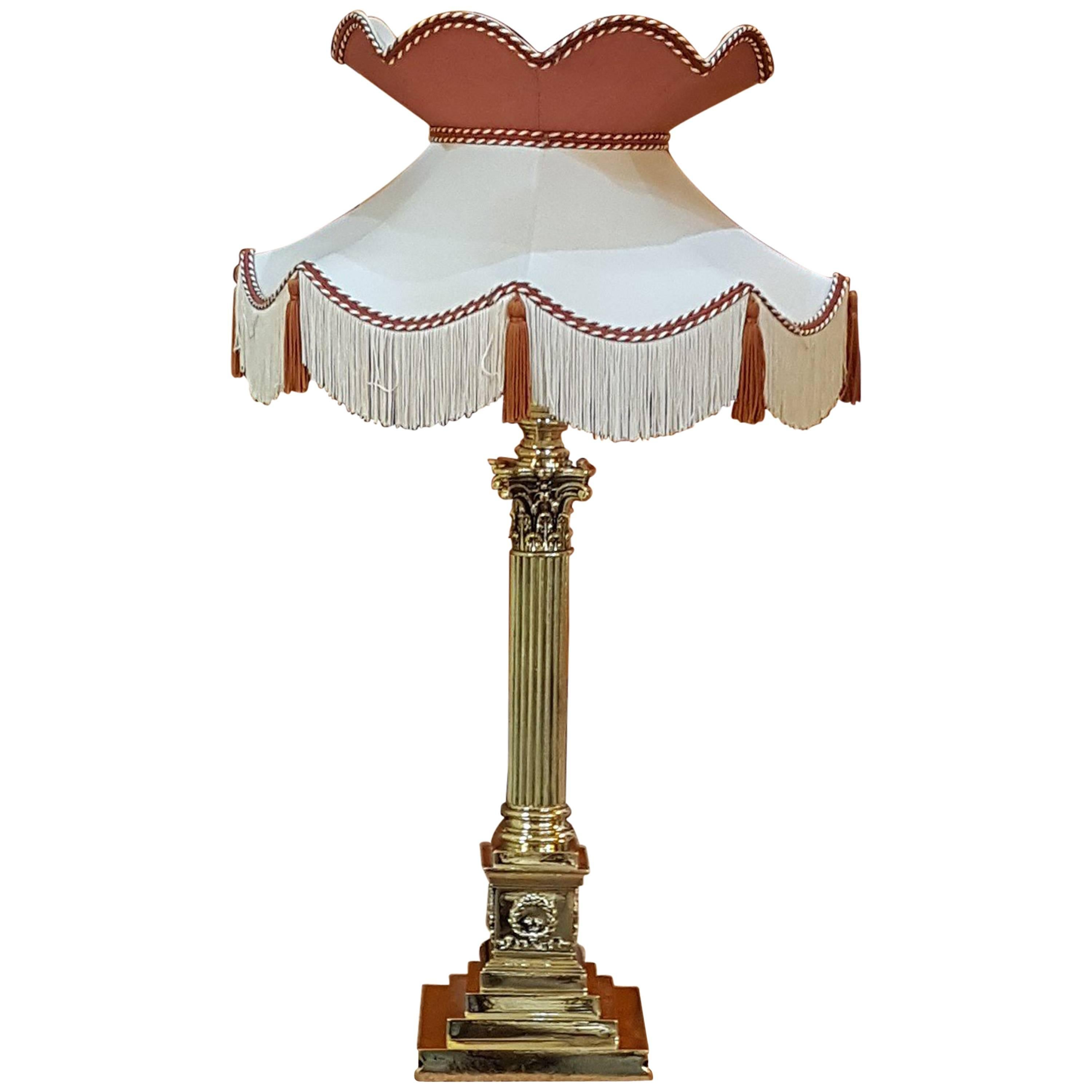 Late 19th Century Brass Table Lamp At 1stdibs