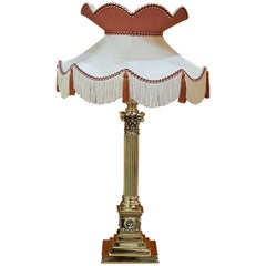 Late 19th Century Brass Table Lamp