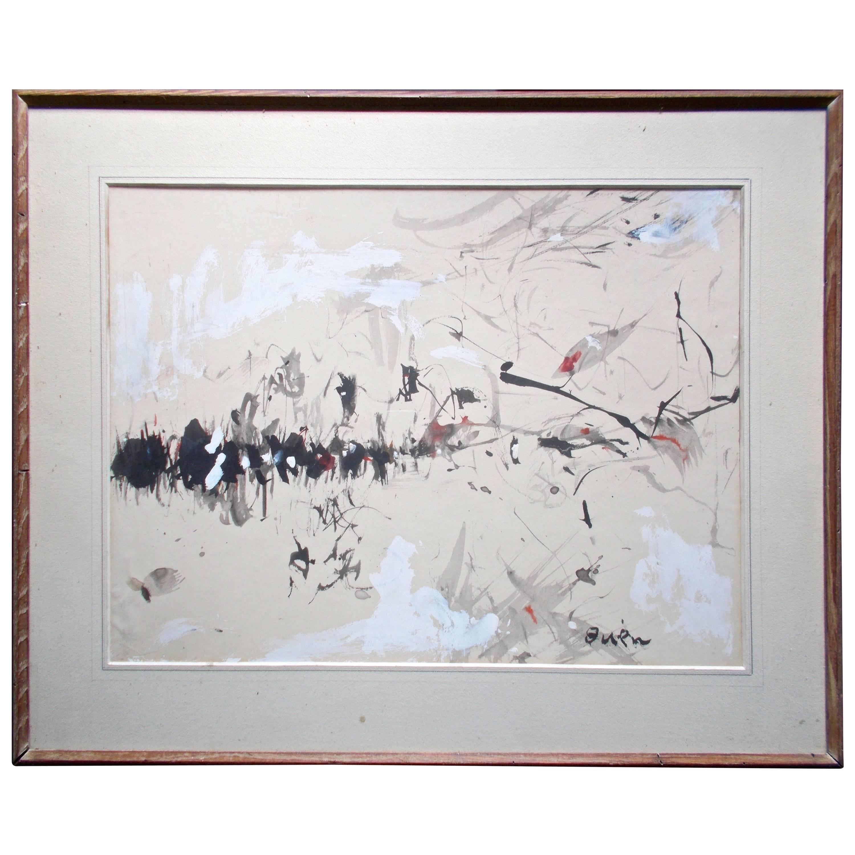 Genichiro Inokuma (Japanese 1902-1993) Original Gouache and Ink Drawing