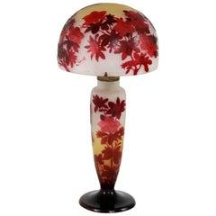 Emile Gallé Acid-Etched Table Lamp