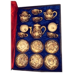 19th Century Satsuma, Meiji Period Tea Set