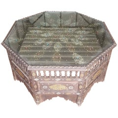 Moroccan Metal Inlaid Coffee Table, Exotica