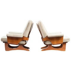 Italian Armchairs, Set of Two