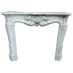 18th Century Antique Carrara Fireplace Mantel