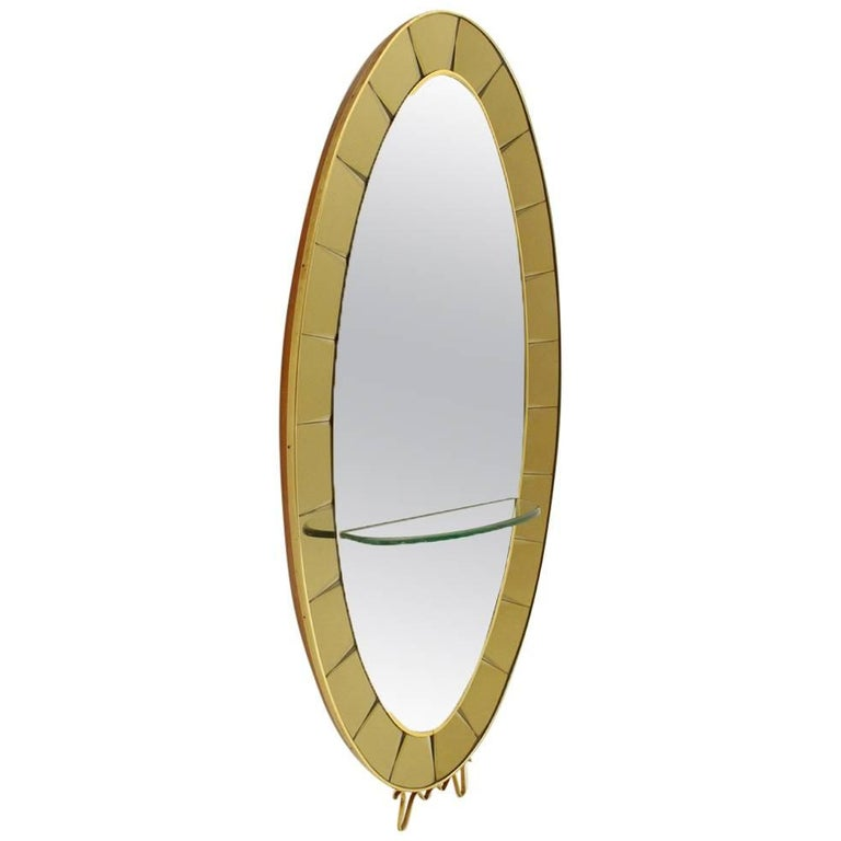 Model 2690 Italian Mirror Console by Cristal Art, 1950s For Sale