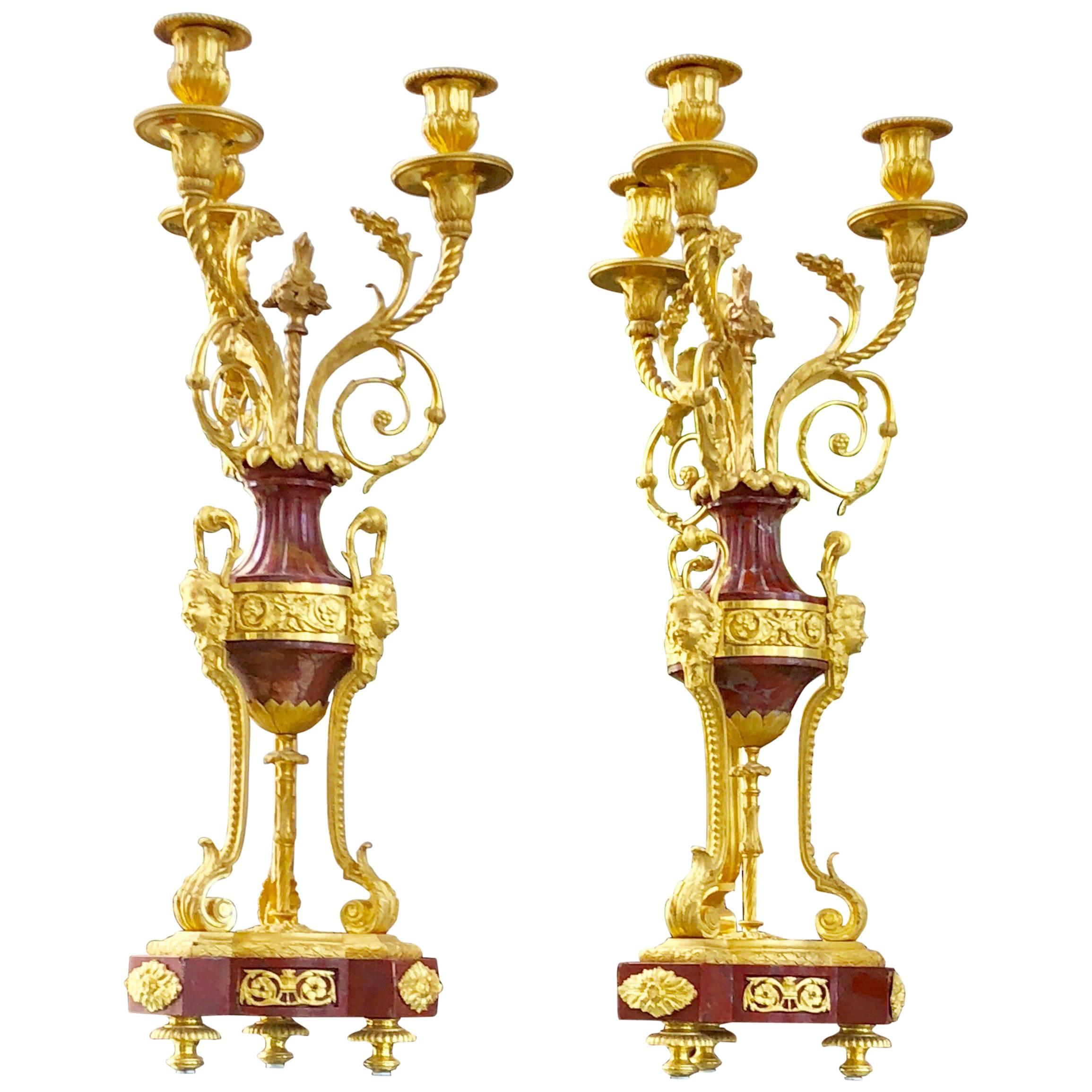 Pair of Louis XVI Candelabra
