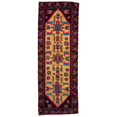 Vintage Multicolored Turkish Runner Rug