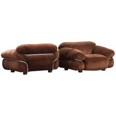 "Gianfranco Frattini ""Sesann"" Armchairs, Set of Two"