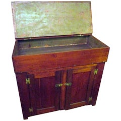 19th Century American Cherrywood Dry Sink