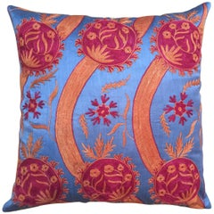 Throw Pillow from Turkey Hand Embroidered and Designed by Michelle Nussbaumer