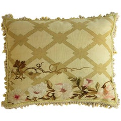 Antique French Aubusson Pillow, circa 1850 1226p