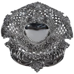 Super Fancy Antique Sterling Silver Heart Bowl by Tiffany & Co.