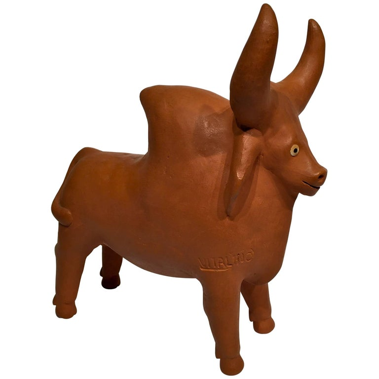 French Limousin Bull In Terracotta, Circa 1900 At 1stdibs