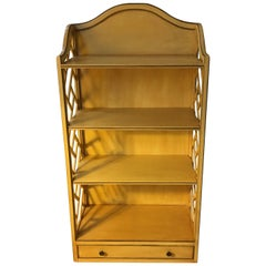 George lll Style Yellow-Painted Wood Bookshelf