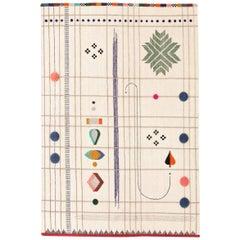 Rabari 1 Medium Hand Knotted and Loomed Wool Rug by Nipa Doshi & Jonathan Levien