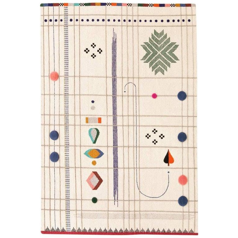 Rabari 1 X-Large Hand-Knotted & Loomed Wool Rug by Nipa Doshi & Jonathan Levien 1