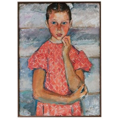 Charming Painting of a Girl, Childhood Innocence
