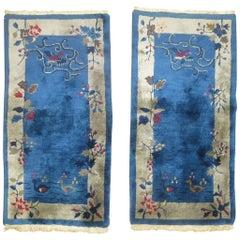 Chinese Art Deco Rugs, Matching Pair