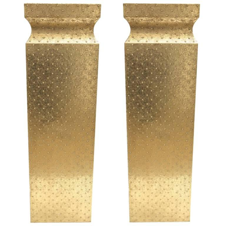 Pair of Brass Pedestals