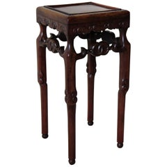 Chinese Hongmu Hardwood Stand or Side Table, 19th Century Qing