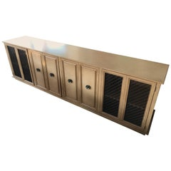 Vintage Modern Hollywood Regency Credenza in the Style of Billy Haines