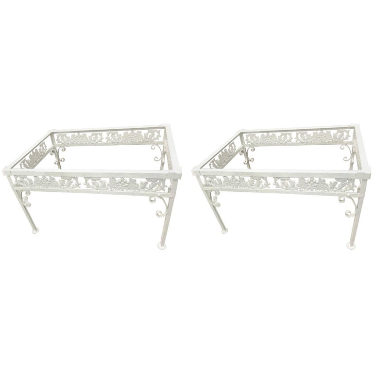 Pair of Salterini Grape Vine Lounge Chairs and Ottoman Frames in ...
