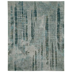 """Swish"" Navy Hand-Knotted Area Rug"