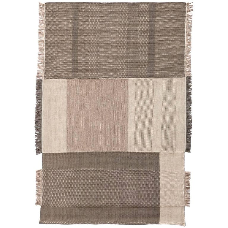 Tres Collection Medium Pearl Hand-Loomed Wool & Felt Rug by Nani Marquina