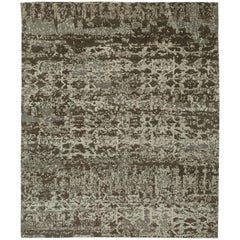 """""""Zinc"""" Brown Beige Hand-Knotted Area Rug, In Stock"""