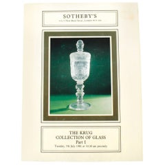 Sotheby's Auction Catalogue for The Krug Collection of Glass Part I