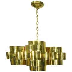 "Curtis Jere ""Cloud"" Form Brass Chandelier"